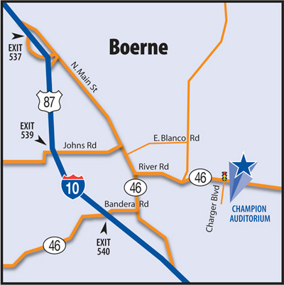 Boerne map