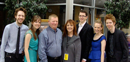 Representing The Boerne Star with The 5 Browns (left to right) are Brian and Dayna Cartwright. The Boerne Star has provided support to Boerne Performing Arts as Season Silver Sponsors since the Inaugural Concerts in 2012.