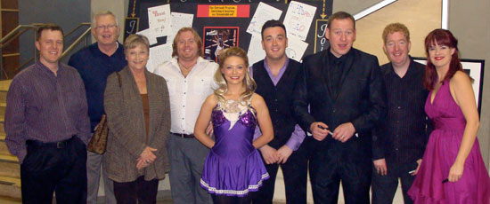 Representing Hearts' Home Acoustics for the second year as Silver Sponsors are: Chaney Rutherford (Manager), David Orf (Owner) and his wife, Peggy. The Celtic Nights show highlighted the many musical offerings of Hearts' Home Acoustics and served as an inspirational and motivational example for students pursuing music at Hearts' Home Acoustics.