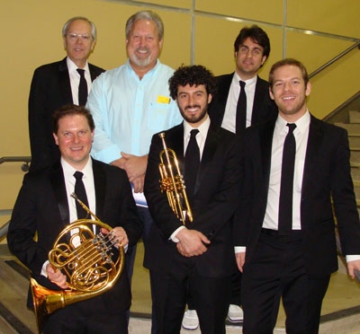 Hill Country Memorial-Boerne's Director of Patient Experience, Mark Peterson, experienced a few laughs with the Fab Five of The Canadian Brass. Mark had the opportunity to visit with the five players during the intermission of the performance on January 30. HCM-Boerne has become involved with Boerne Performing Arts after the opening of their new offices in Boerne in October of 2014.