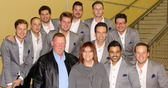 THE BOERNE STAR has been instrumental in the success of Boerne Performing Arts since the organization's inception in 2011. Brian Cartwright and Dayna Cartwright enjoy a moment with The Ten Tenors after having sponsored TAO and The 5 Browns in previous seasons.