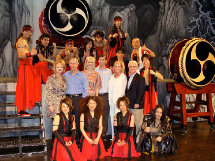 Representatives from Cordillera Ranch and The Boerne Star had the opportunity to meet the artists of TAO: The Art of the Drum following their recent sold-out performance at the Boerne Champion High School Auditorium. In addition to the evening performance, 1,000 local students enjoyed a 1-hour school show by TAO thanks to the generosity of these two sponsors. Pictured above from Cordillera Ranch are (left to right), Barbara Hill, David Hill, Sara Hill, Charlie Hill, Kathy Denton, and Barry Denton. Representing The Boerne Star, in photo below (left to right), are Dayna Cartwright, Brian Cartwright, and Nick Cartwright. The Kronkosky Charitable Foundation and the Boerne Convention & Visitors Bureau provided additional funding for this performance. Boerne Performing Arts operates under the auspices of the Hill Country Council for the Arts, a 501(c)3 non-profit organization.