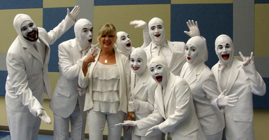 In addition to their financial contributions, JENNINGS ANDERSON FORD also provided brand new White Ford Expeditions to transport the cast of VOCA PEOPLE during their stay in Boerne. Pictured above is Robin Hodges, of JENNINGS ANDERSON FORD, enjoying some laughs with the cast of VOCA PEOPLE after their spaceship arrived Boerne. JENNINGS ANDERSON FORD has continuously supported Boerne Performing Arts throughout the first three seasons and is thrilled to once again be showing their support as a sponsor of VOCA PEOPLE.