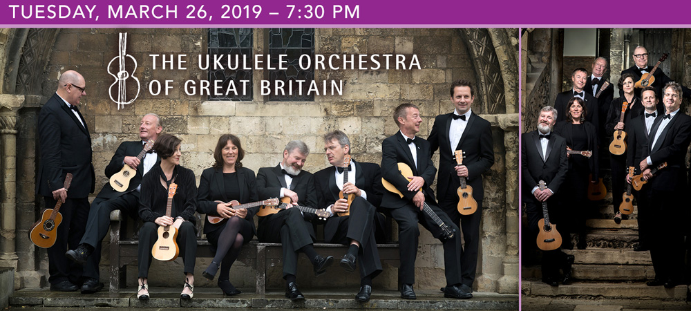 The Ukulele Orchestra of Great Britain at Boerne Performing Arts on Tuesday, March 26, 2019 at 7:30 PM