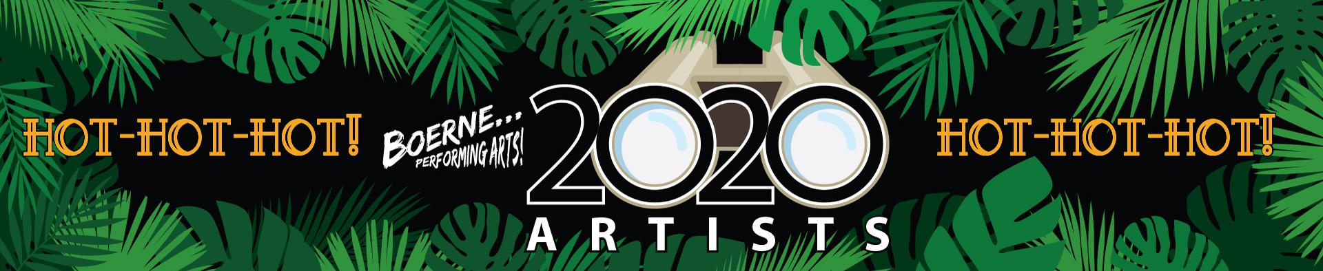 Boerne Performing Arts 2020 Season Artists