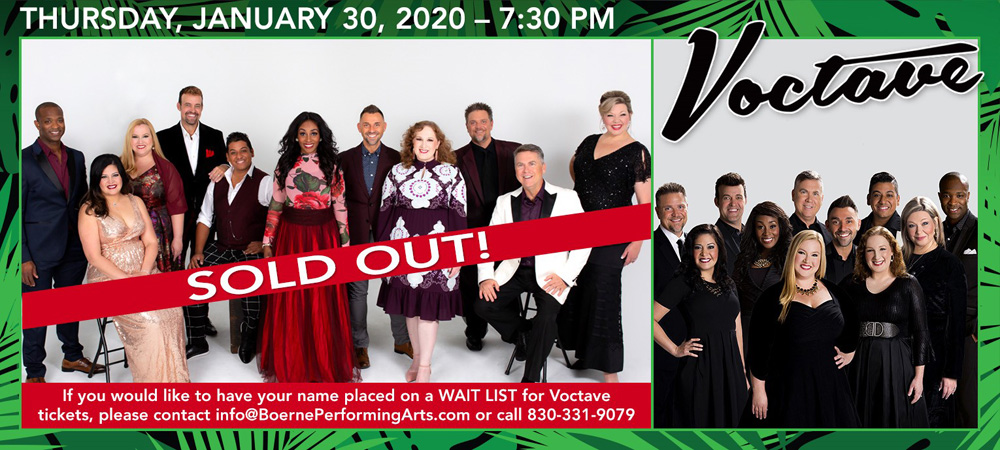 Voctave at Boerne Performing Arts on Thursday, January 30, 2020 - 7:30pm